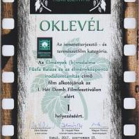 Hét Domb_élmények birodalma díj